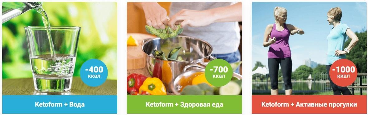 Заказать капсулы для похудения Кетоформ в Омске